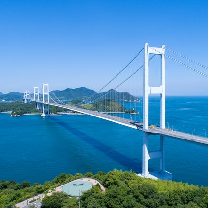 Island-hopping cycling from Honshu to Shikoku: Shimanami Kaido