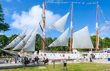 Sailboat Meridian, the symbol of maritime traditions in Klaipėda