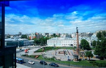 Zwetnoj-Boulevard in Moskau: eine kleine grüne Oase