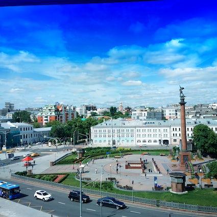 Tsvetnoy Boulevard em Moscovo: um pequeno oásis verde