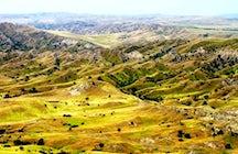 La réserve naturelle de Vashlovani, et ses paysages africains