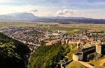 Sei ein Ritter auf der Zitadelle Râșnov