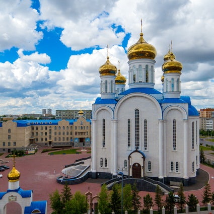 The mesmerizing Assumption Cathedral in Nur-Sultan