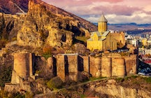 The Bethlehem Churches at the foot of Narikala Fortress in Tbilisi