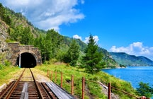 Remarkable historic railway tunnels on Lake Baikal