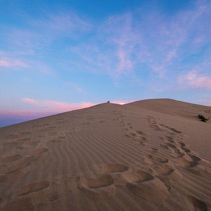 A mysterious singing dune of Kazakhstan