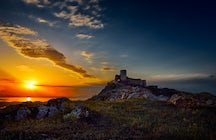 Striking sunsets at the Enisala Fortress near Tulcea