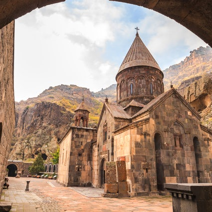 Geghard Monastery- carved out of rock