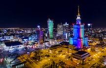 Instalaciones de arte en las calles de Varsovia