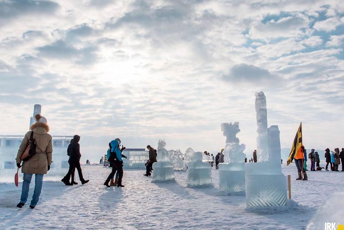 Visit the Ice Festival at Baikal Lake