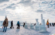 Visit the Ice Festival at Baikal Lake