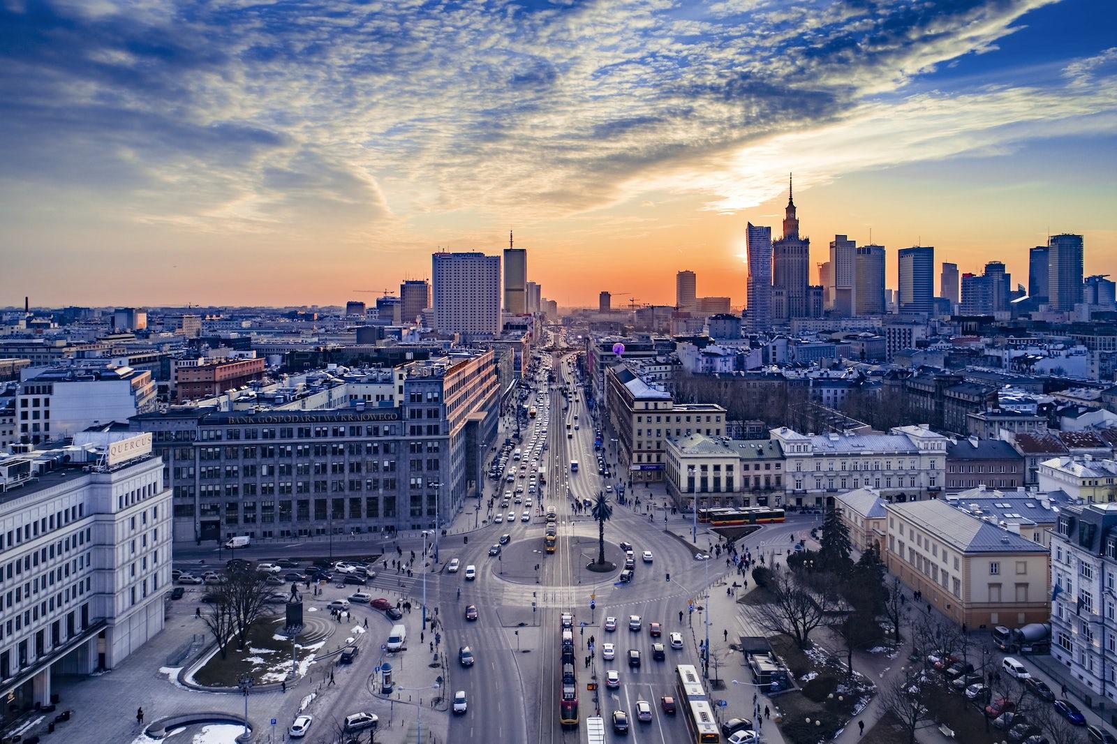 © iStock/Drone in Warsaw by Prokreacja.com