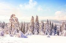 Esquí en las montañas de Harz