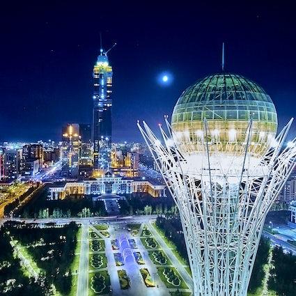 Legendary Baiterek Tower, the symbol of Nur-Sultan