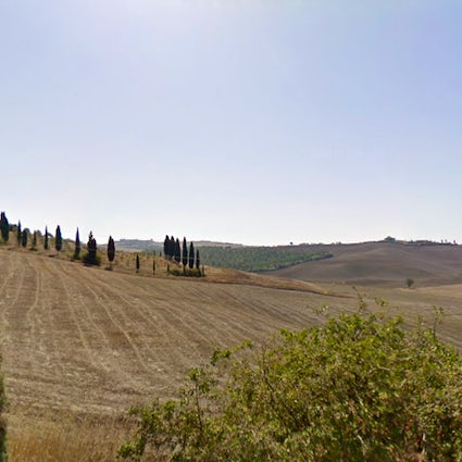 The Accona Desert in Tuscany