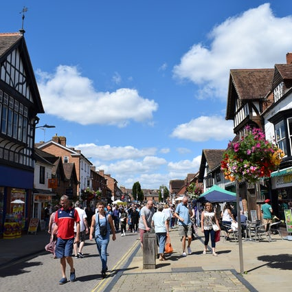 A Sunny Day in Shakespeare's Home Town