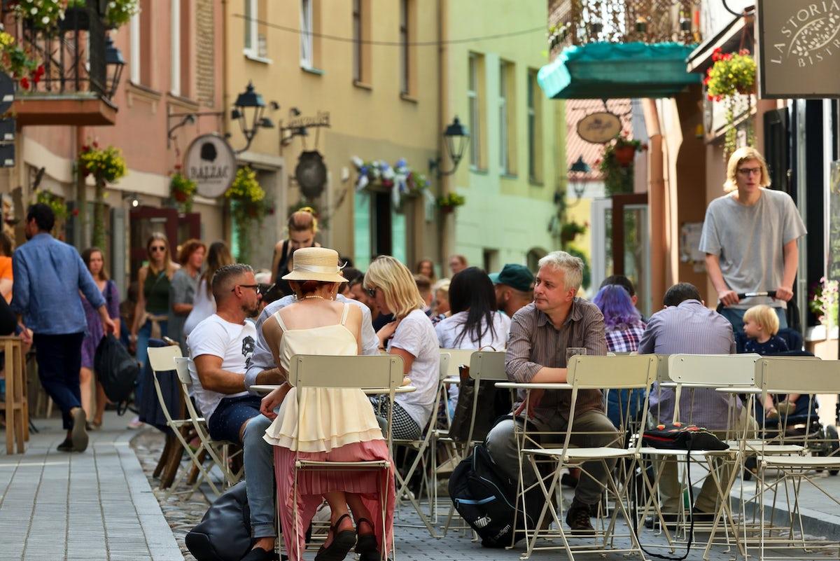Savičius Street in Vilnius - homey architecture and tasty food