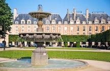 Parques y jardines en París: Plaza de los Vosgos