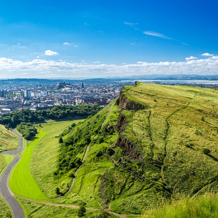 "Eating ""Haggis"" and climbing in Edinburgh"