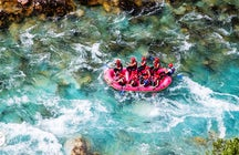 Top rafting in de diepste canyon van Europa