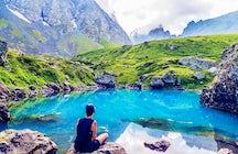 Marvelous colorful lakes of Abudelauri
