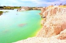 Die Blaue Lagune von Nur-Sultan, Kasachstan