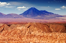 Unique landscapes in Chile, the Atacama Desert
