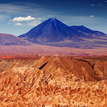 Unique landscapes in Chile, the Atacama Desert