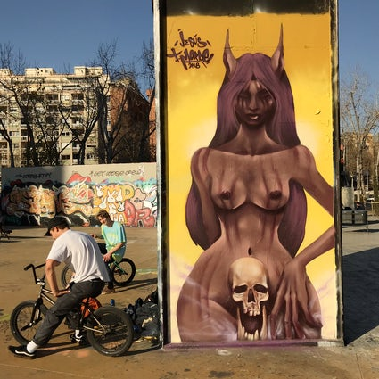 The Barcelona graffiti scene and its correlation to skateboarding