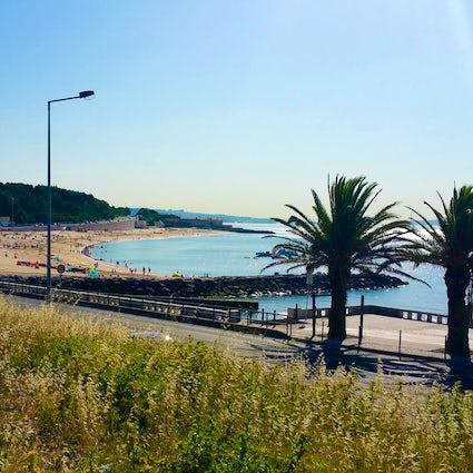 Les belles plages le long de la côte d'Oeiras