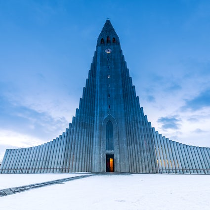 Hallgrímskirkja - a church  inspired by Icelandic nature