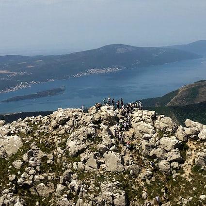 Hiking around Montenegro: Pestingrad - the peak above the city of Kotor