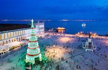 El majestuoso árbol de Navidad de Chisinau