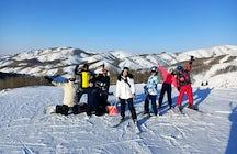 Una fuga nella stazione sciistica di Altay Alps nel Kazakistan orientale