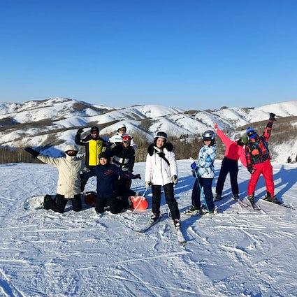 Uma fuga para a estação de esqui dos Alpes de Altay, no Cazaquistão Oriental