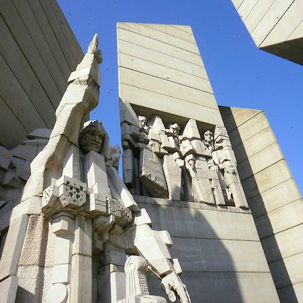 "Socialist architectural masterpieces in Bulgaria: ""1300 Years Bulgaria"" monument in Shumen"