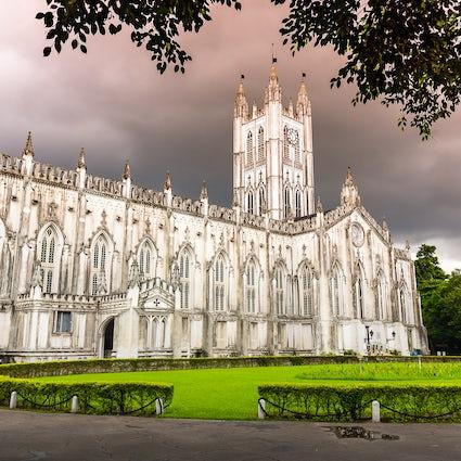 Die St. Paul's-Kathedrale in Kalkutta, ein Wunderwerk gotischer Architektur
