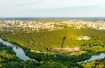 The picturesque view of Vilnius from its Television Tower