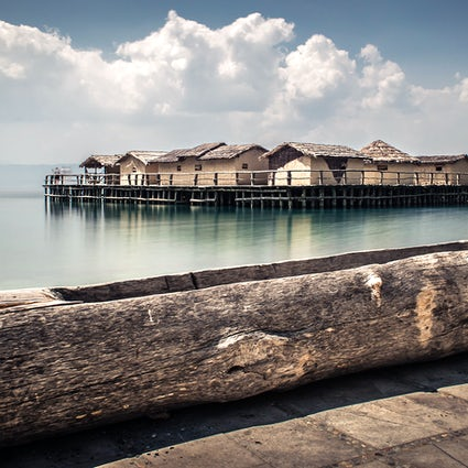 The bones bay in Ohrid