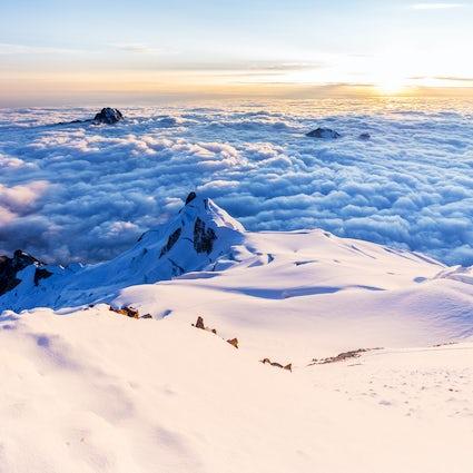 Huaina Potosí, niekończący się biały widok ponad chmurami