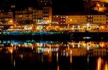 Vida nocturna en el centro de Faro