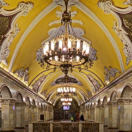 El caleidoscopio del metro de Moscú