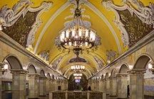 Moscow metro kaleidoscope