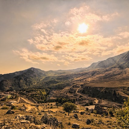 Fin d'été dans la région de Guba, en Azerbaïdjan