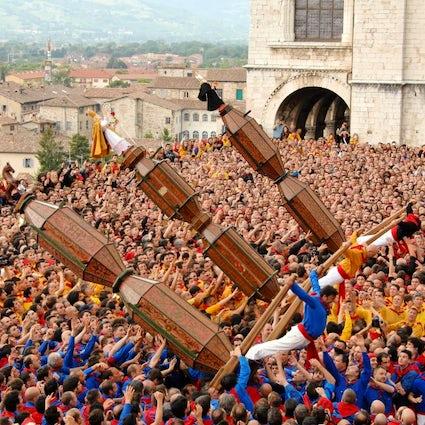 """La """"Corsa dei Ceri"""", à Gubbio"""