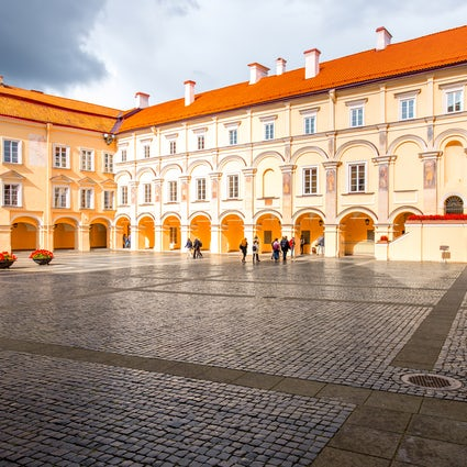 A prestigious Vilnius University with its charming history