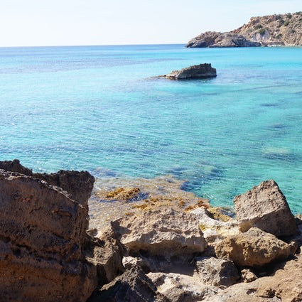 Secret beaches in the north of Ibiza