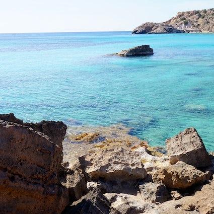 Secret beaches in the north of Ibiza