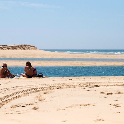 Barrinha Beach, swimming in Ria Formosa