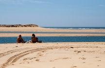 Barrinha Beach, swimming in Ria Formosa